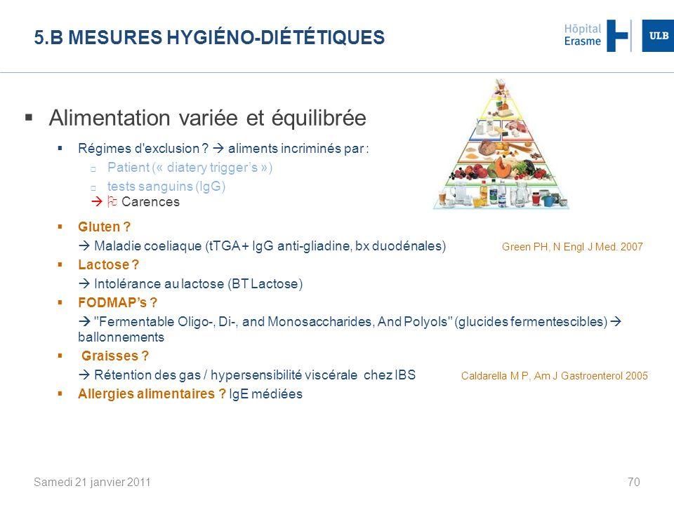 5.b Mesures hygiéno-diététiques