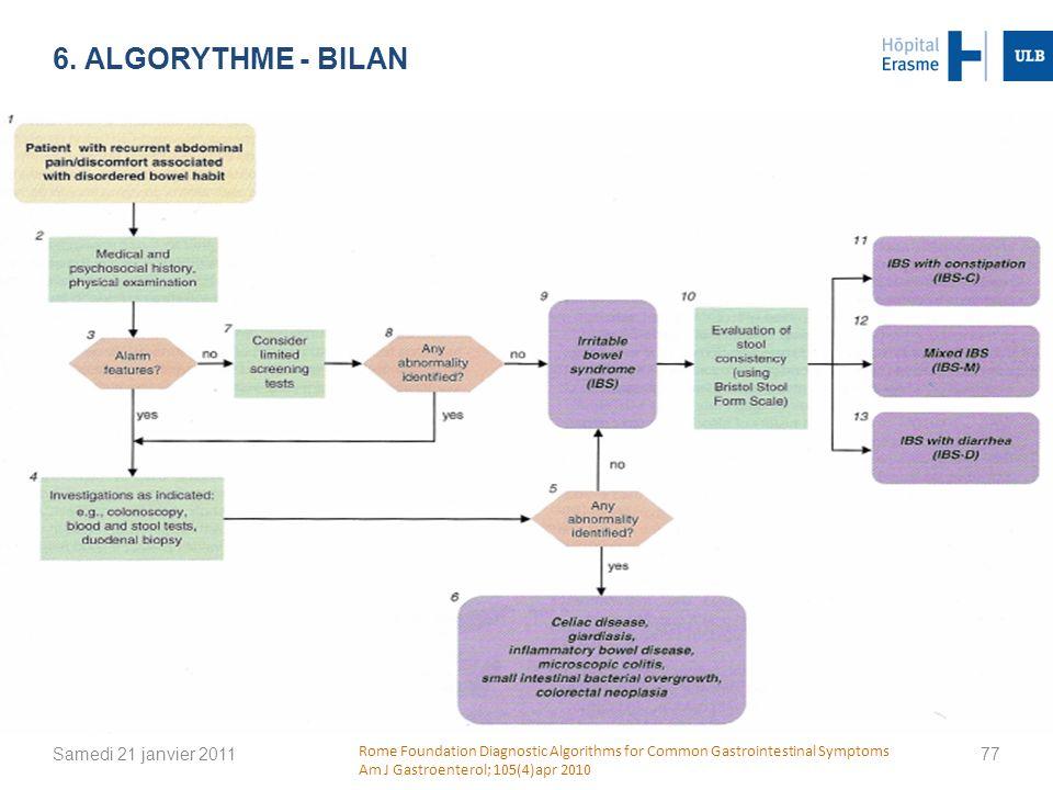 6. Algorythme - bilan Samedi 21 janvier 2011