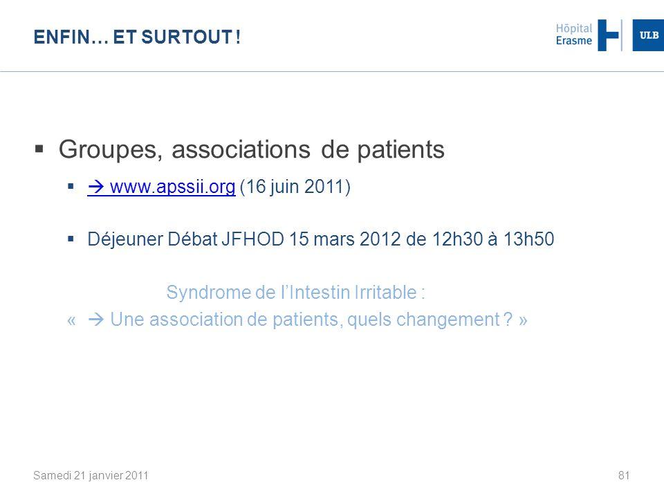 Groupes, associations de patients