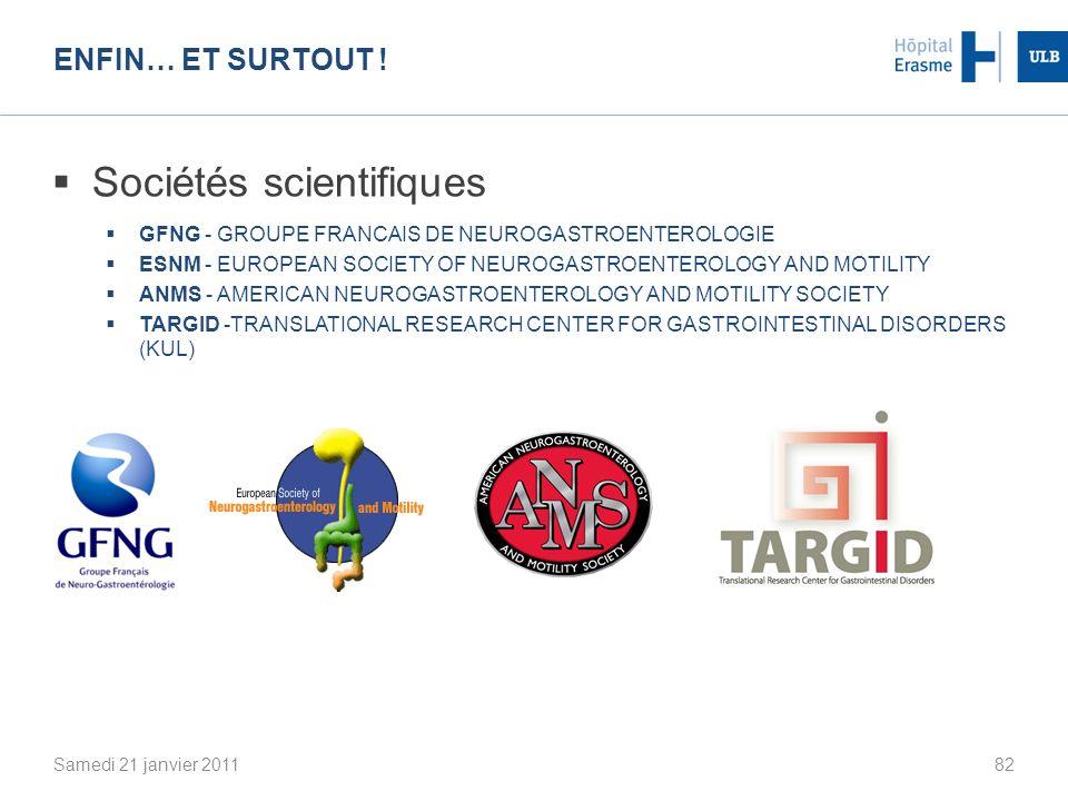 Sociétés scientifiques