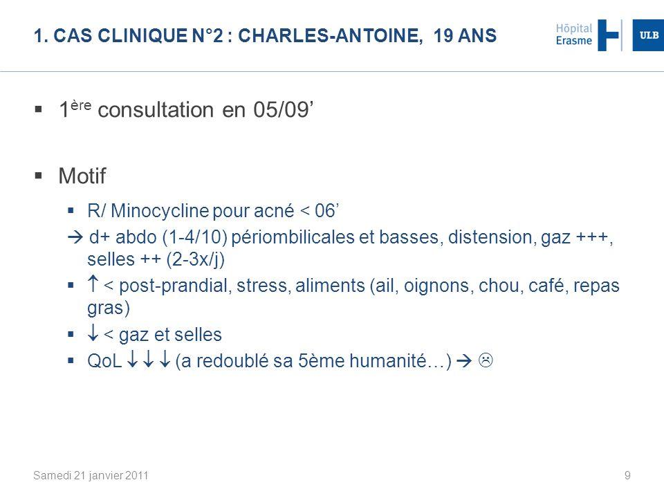 1. Cas clinique N°2 : Charles-Antoine, 19 ans