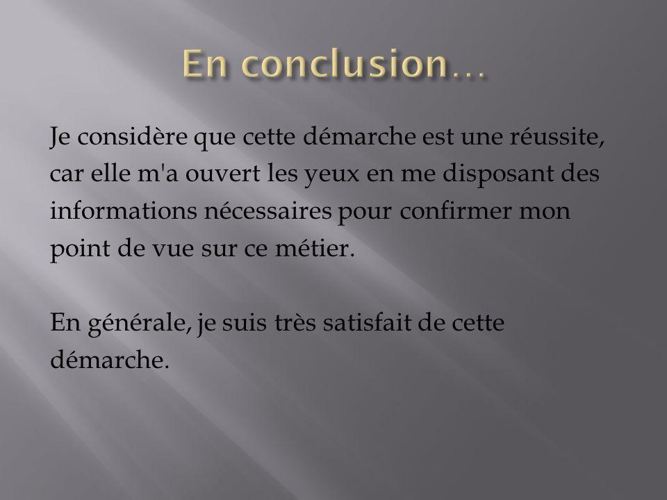 En conclusion…