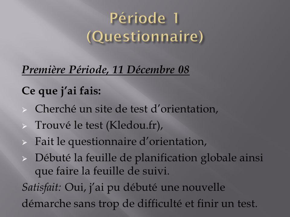 Période 1 (Questionnaire)