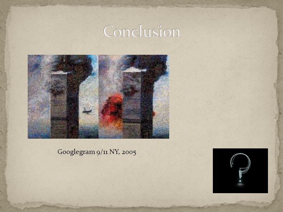 Conclusion Googlegram 9/11 NY, 2005