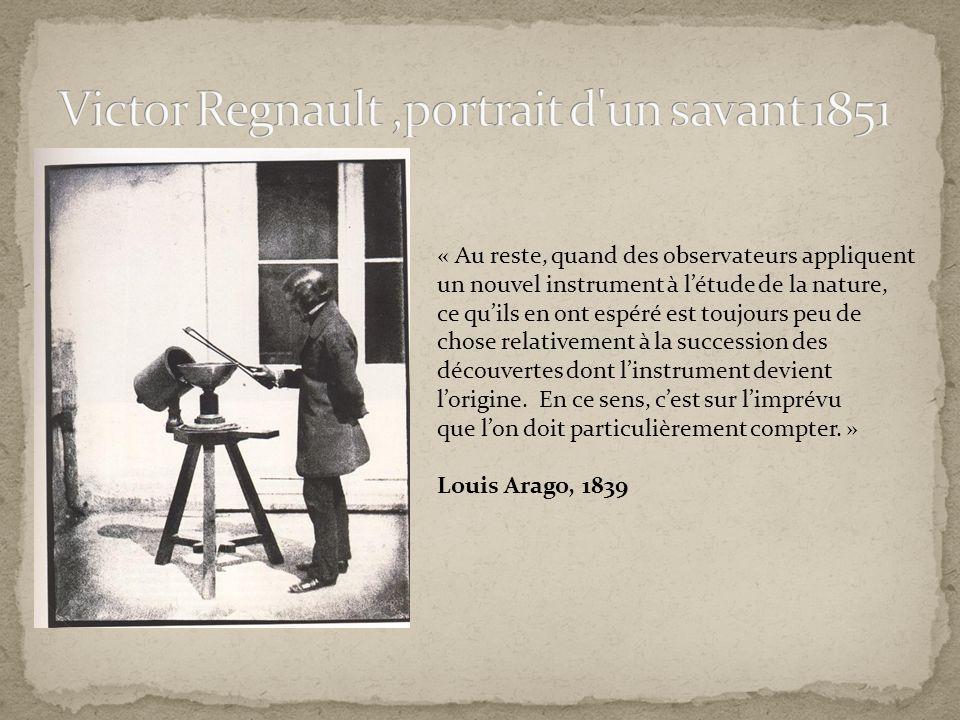 Victor Regnault ,portrait d un savant 1851