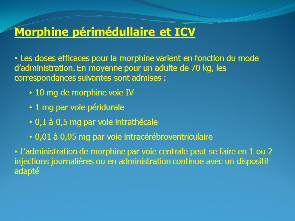 Morphine périmédullaire et ICV