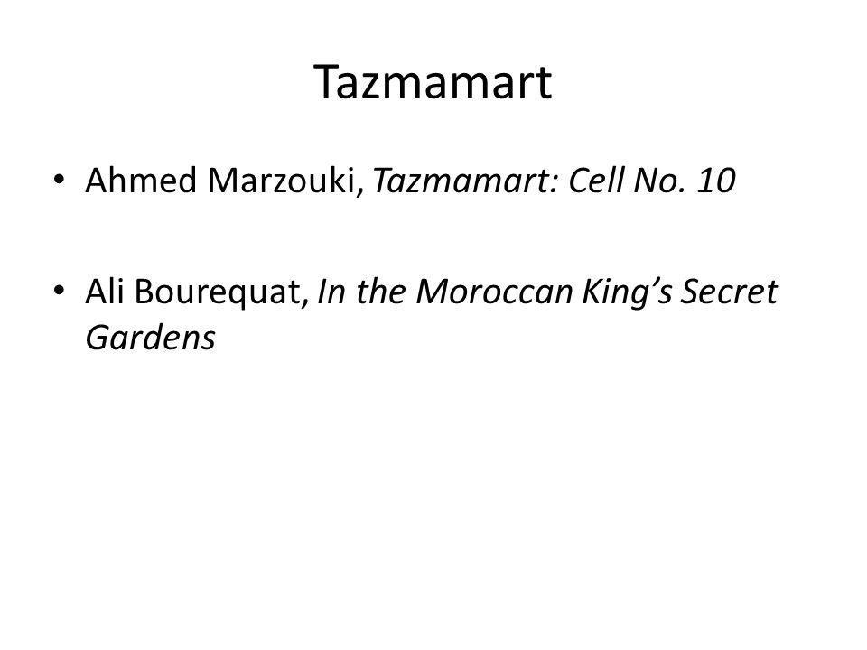 Tazmamart Ahmed Marzouki, Tazmamart: Cell No. 10