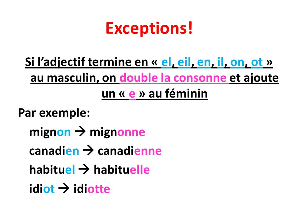 Exceptions!