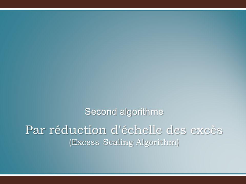 Par réduction d échelle des excès (Excess Scaling Algorithm)