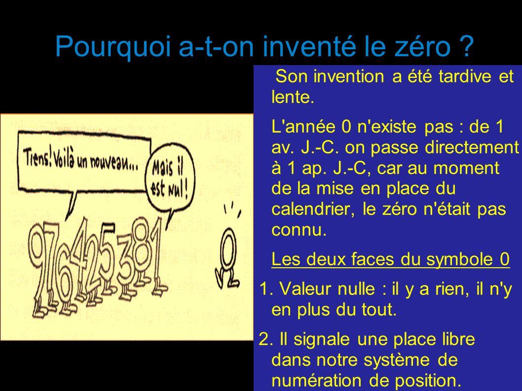 Pourquoi a-t-on inventé le zéro