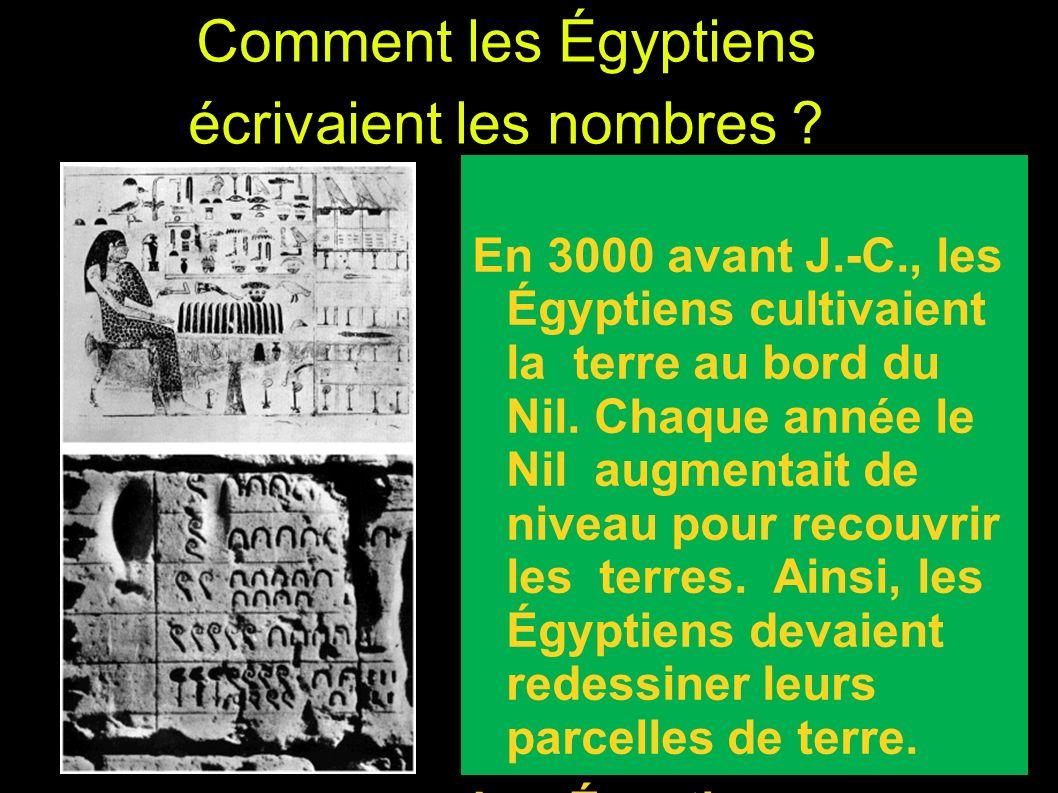 Comment les Égyptiens écrivaient les nombres