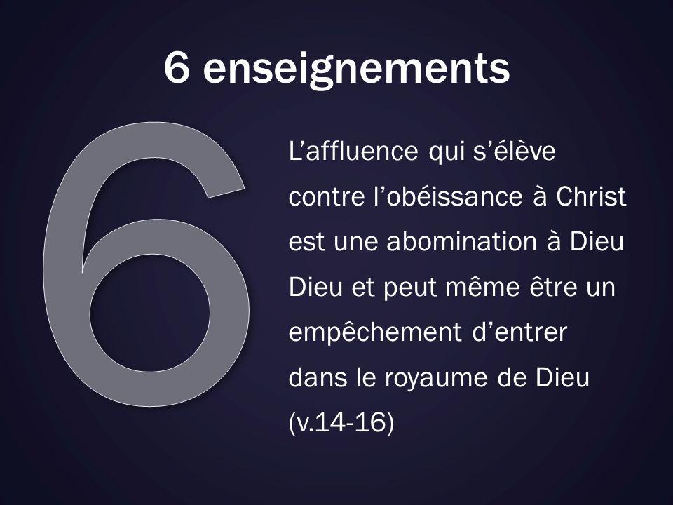 6 6 enseignements.