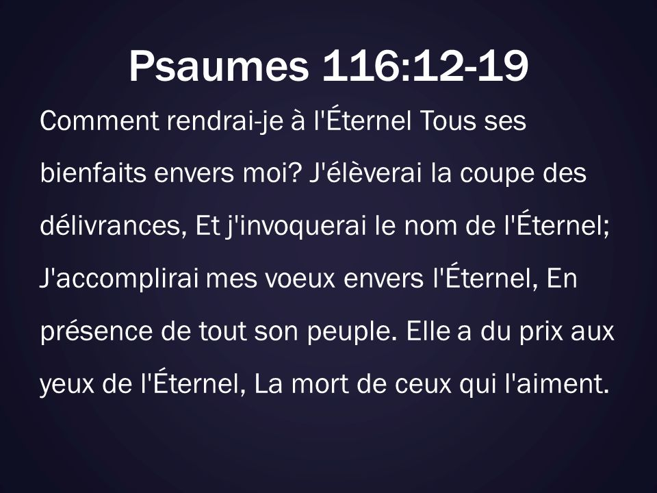 Psaumes 116:12-19