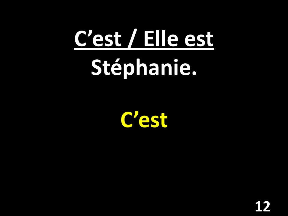 C'est / Elle est Stéphanie.