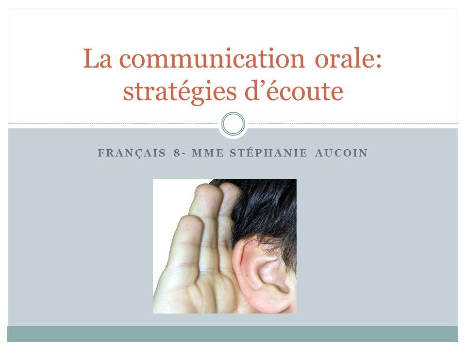 La communication orale: stratégies d'écoute
