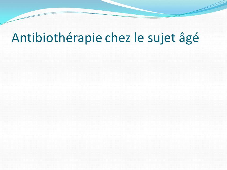 Antibiothérapie chez le sujet âgé