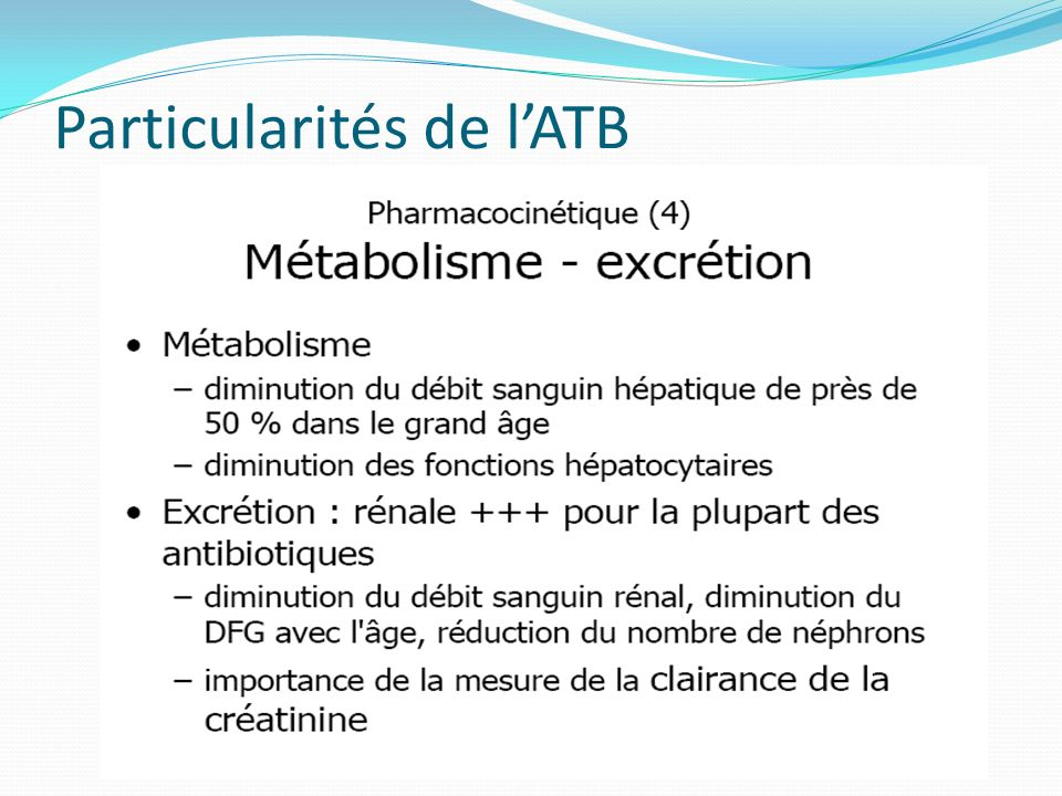 Particularités de l'ATB