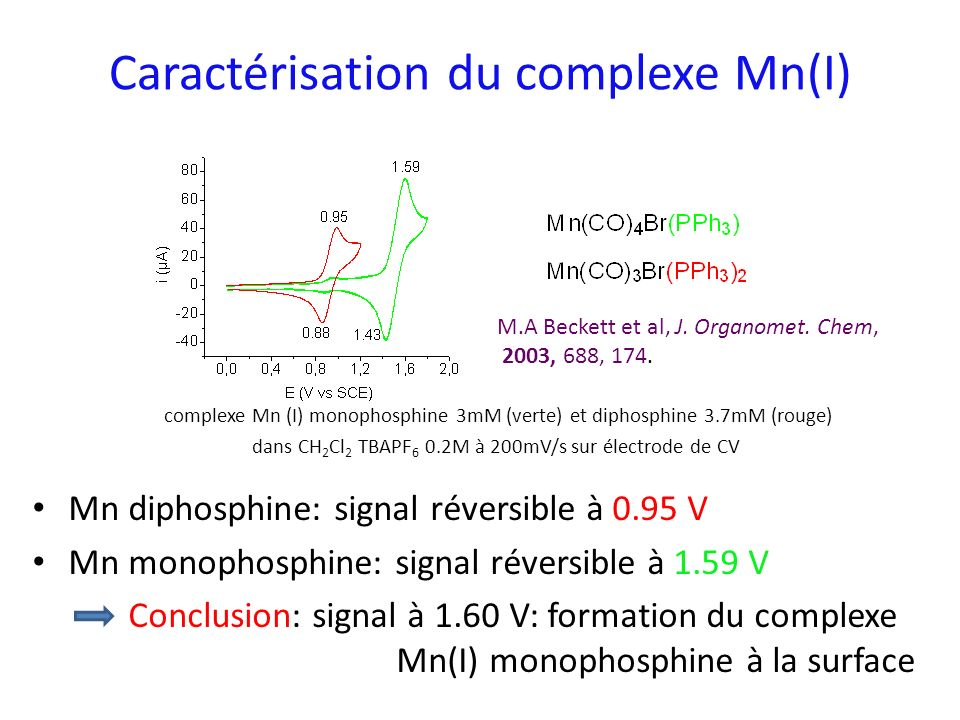 Caractérisation du complexe Mn(I)