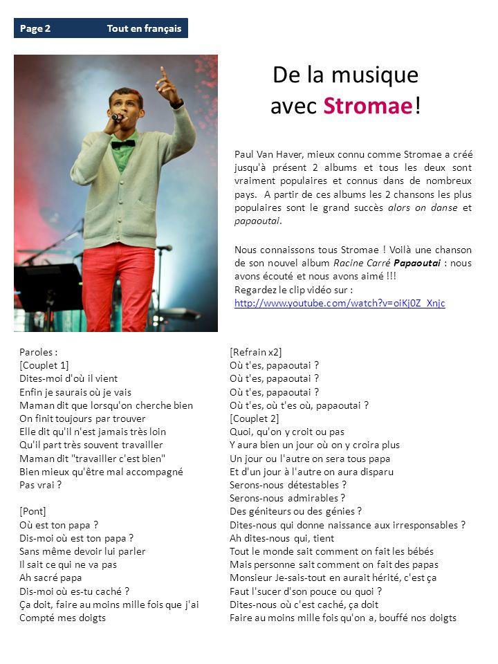 De la musique avec Stromae! Page 2 Tout en français