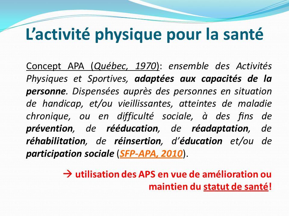 L'activité physique pour la santé