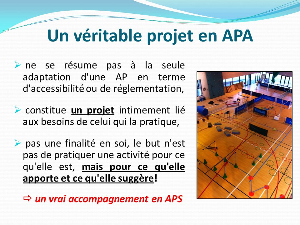 Un véritable projet en APA