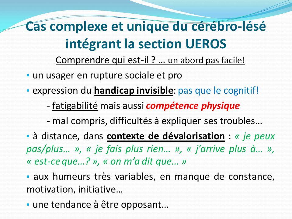 Cas complexe et unique du cérébro-lésé intégrant la section UEROS