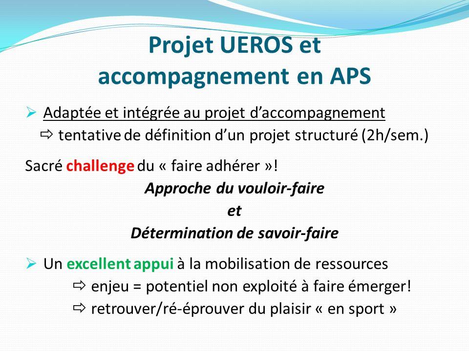 Projet UEROS et accompagnement en APS