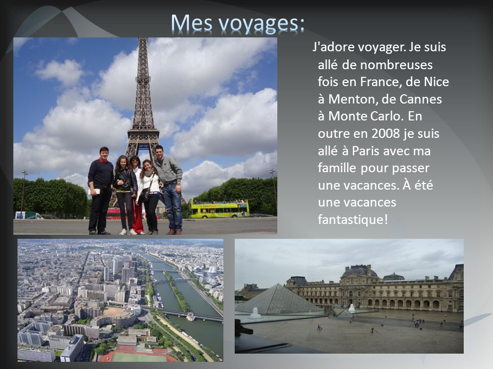 Mes voyages: