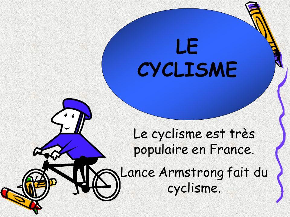 LE CYCLISME Le cyclisme est très populaire en France.