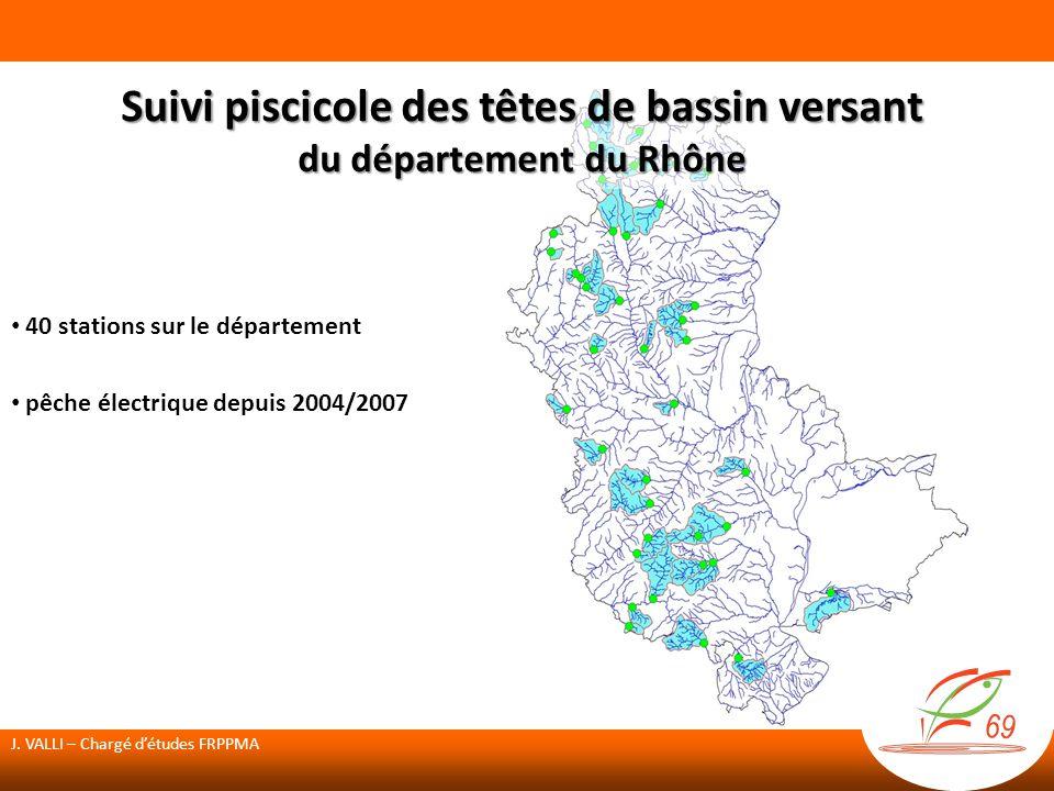 Suivi piscicole des têtes de bassin versant du département du Rhône