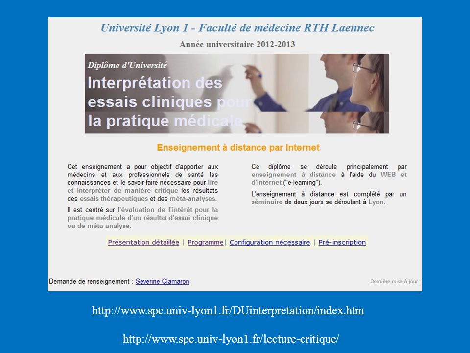 http://www.spc.univ-lyon1.fr/DUinterpretation/index.htm http://www.spc.univ-lyon1.fr/lecture-critique/