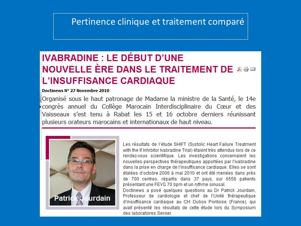 Pertinence clinique et traitement comparé