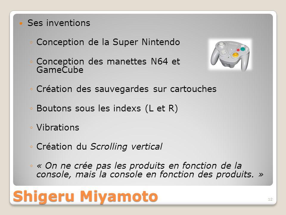 Shigeru Miyamoto Ses inventions Conception de la Super Nintendo