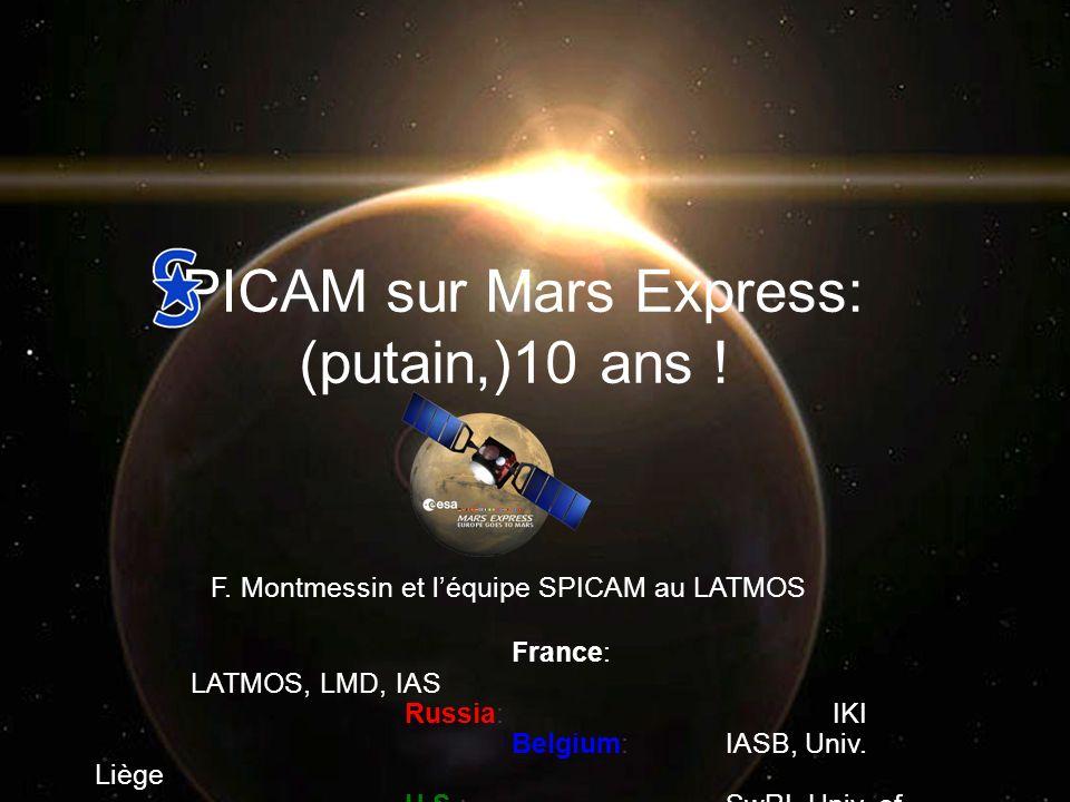 PICAM sur Mars Express: (putain,)10 ans !