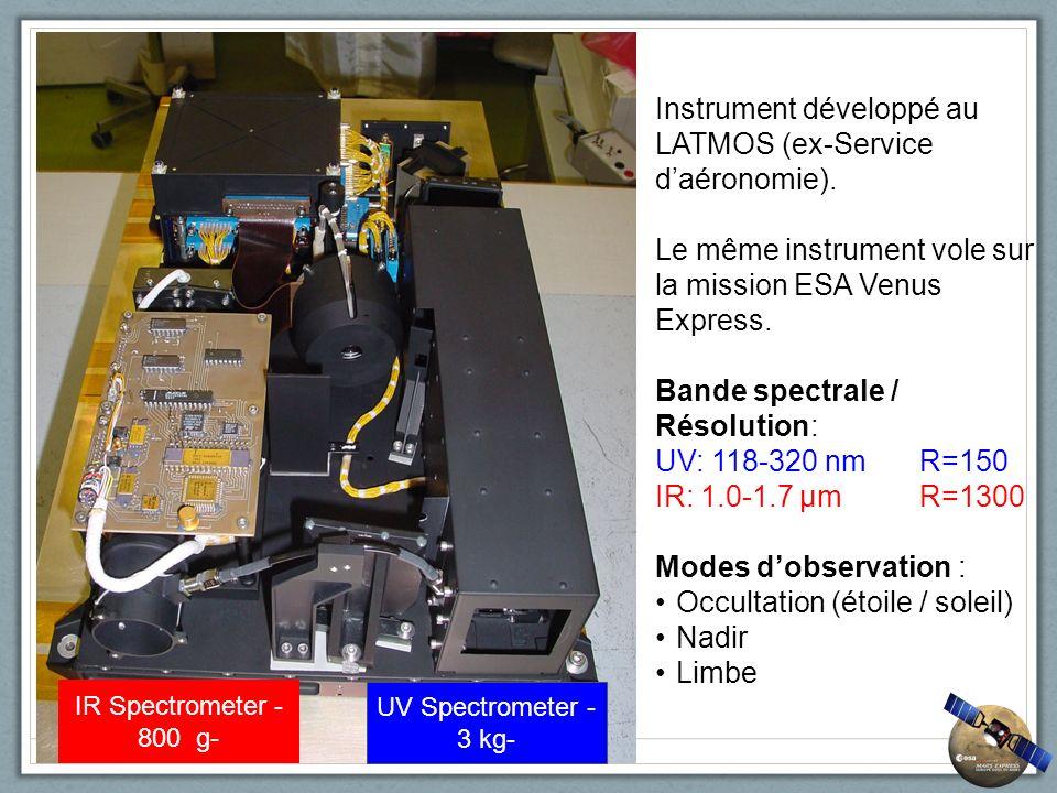 Instrument développé au LATMOS (ex-Service d'aéronomie).