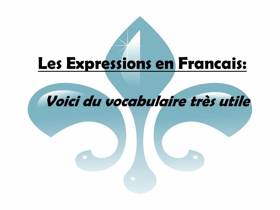 Les Expressions en Francais: