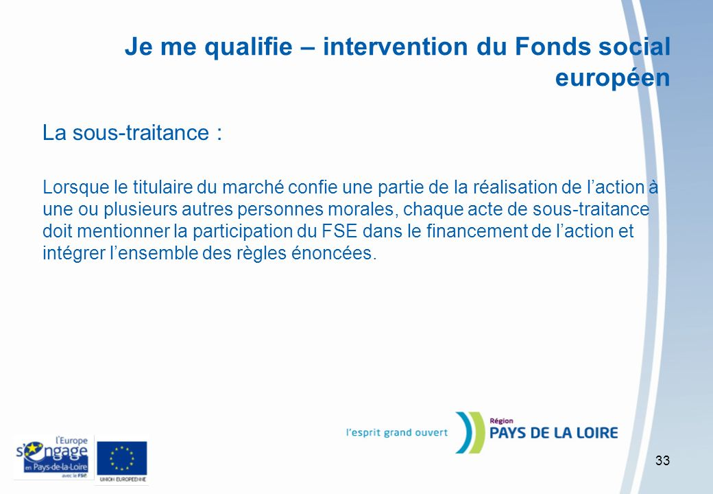 Je me qualifie – intervention du Fonds social européen