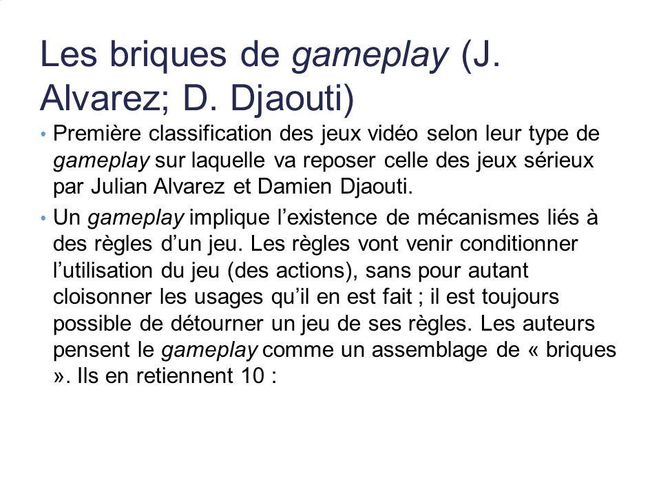 Les briques de gameplay (J. Alvarez; D. Djaouti)