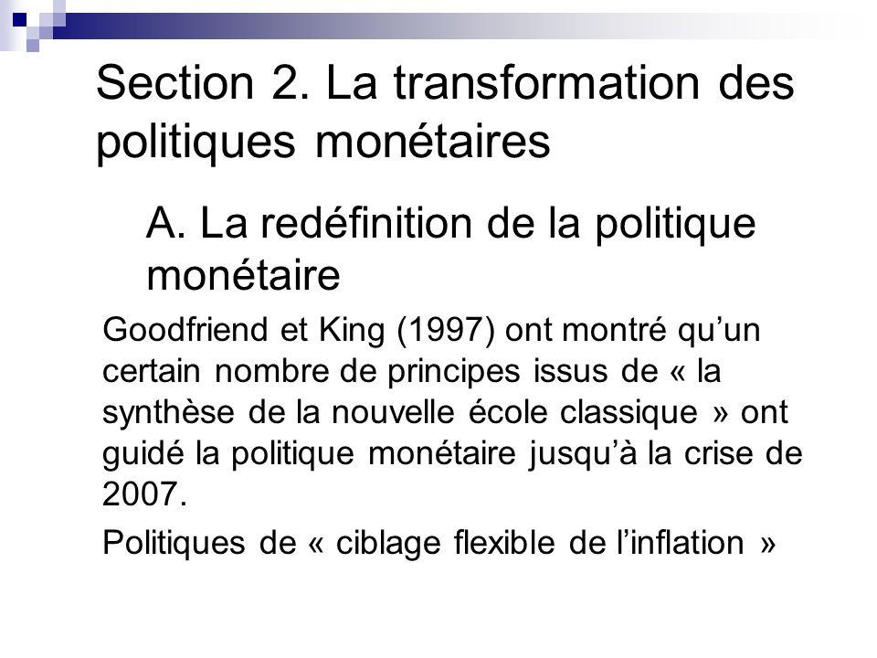 Section 2. La transformation des politiques monétaires