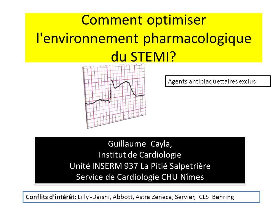 Comment optimiser l environnement pharmacologique du STEMI