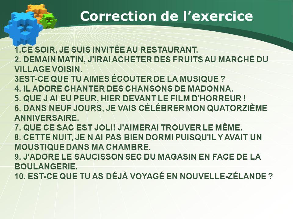 Correction de l'exercice