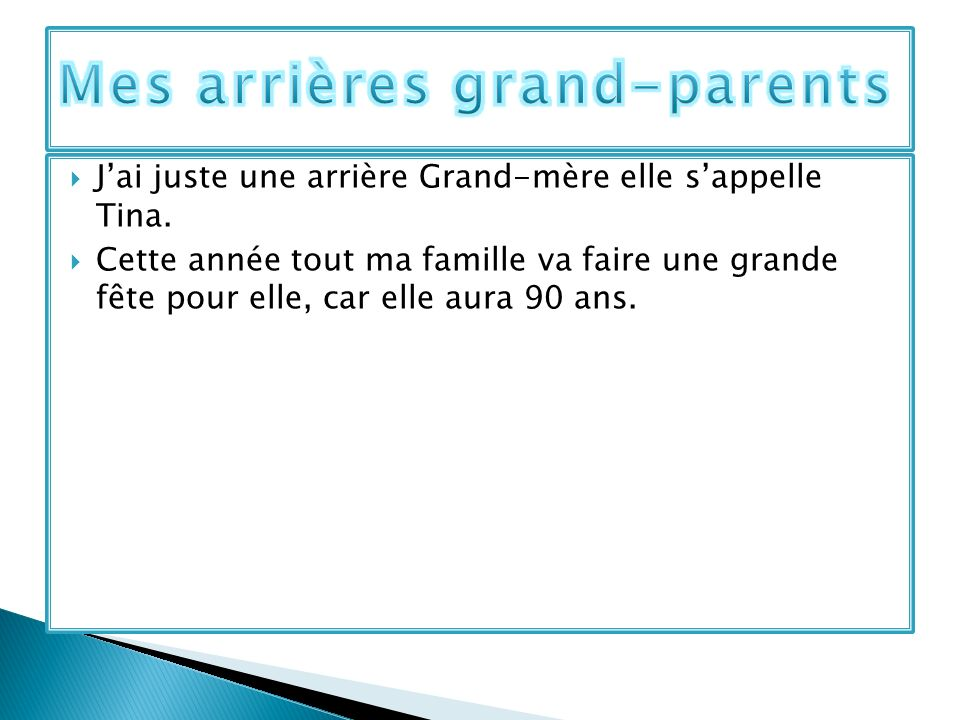 Mes arrières grand-parents