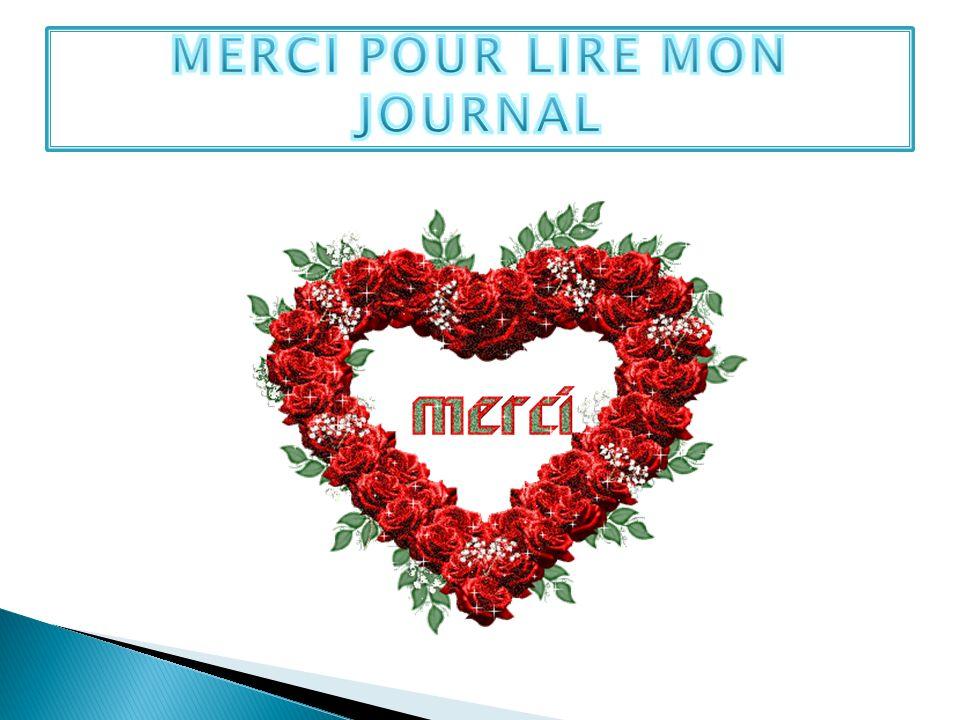 MERCI POUR LIRE MON JOURNAL
