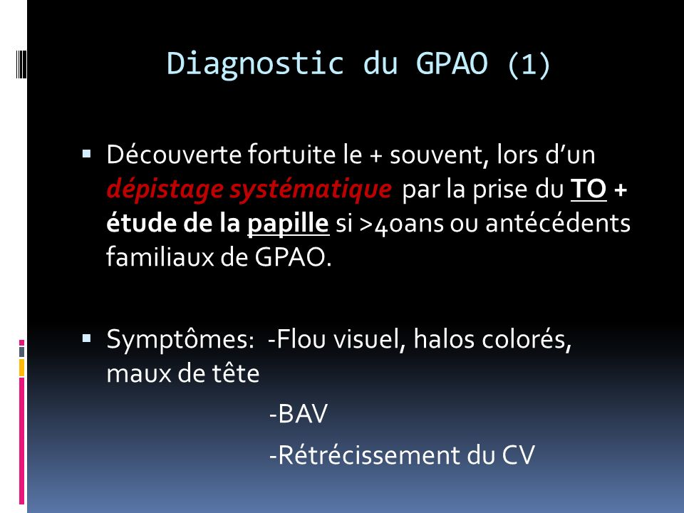 Diagnostic du GPAO (1)