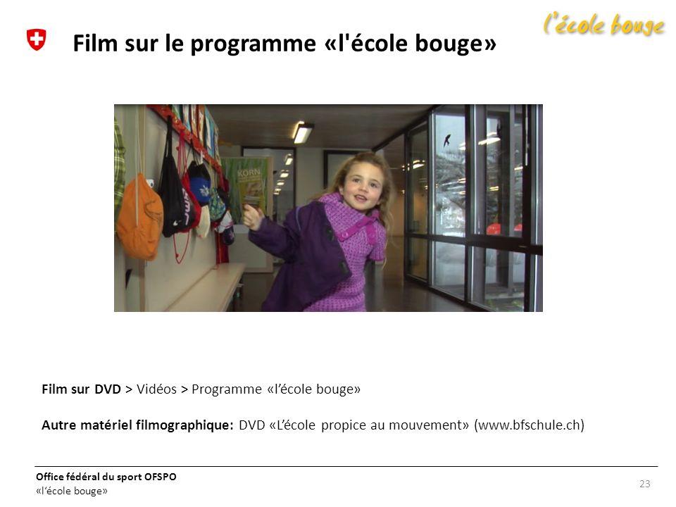 Film sur le programme «l école bouge»
