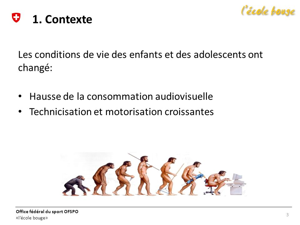 1. Contexte Les conditions de vie des enfants et des adolescents ont changé: Hausse de la consommation audiovisuelle.