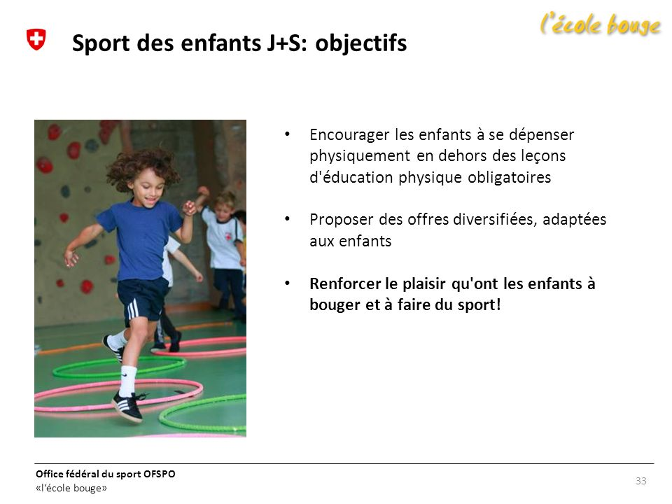 Sport des enfants J+S: objectifs