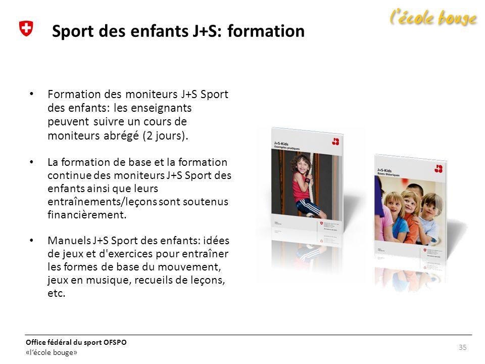 Sport des enfants J+S: formation