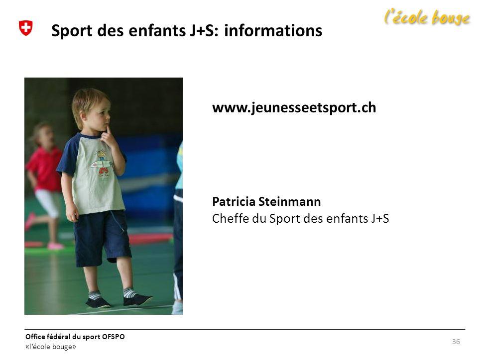 Sport des enfants J+S: informations