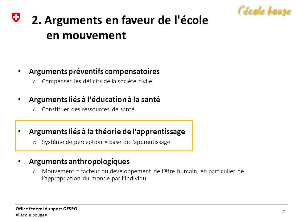 2. Arguments en faveur de l école en mouvement